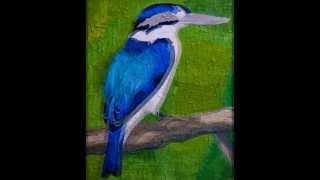 """Gambar cover Paper Mosaic by Crystal Davis. The making of """"Forest"""" the Kingfisher."""