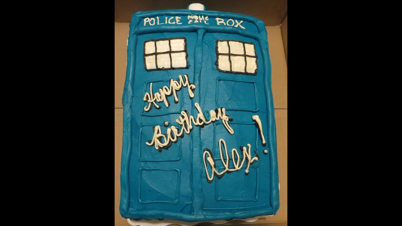 Simple Doctor Who Tardis Cake