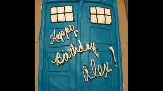 Simple Doctor Who Tardis Cake