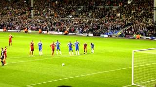 Liverpool-Chelsea 4-1 Penalty missed by Downing