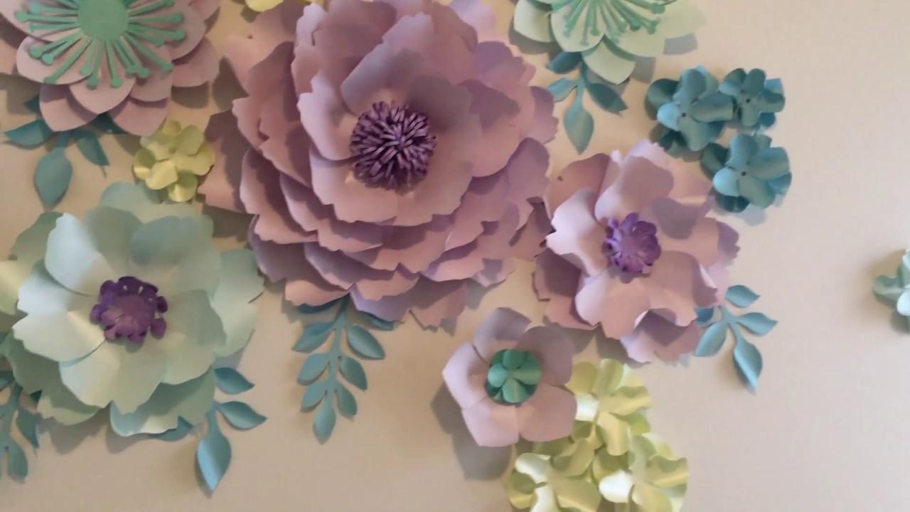 Paper Flowers In Nursery Decor