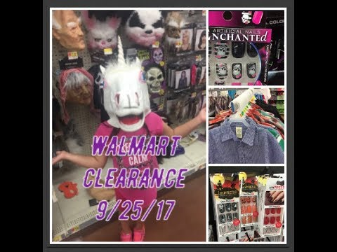 9/25/17 WALMART FINDS | CHEAP HALLOWEEN NAILS, CLOTHES & MORE!