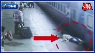 Caught On Camera: Passenger Slips Between The Platform And Moving Train, Rescued