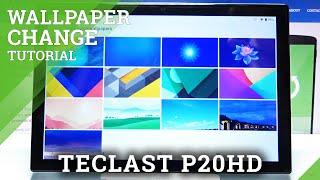 Como alterar o papel de parede no TECLAST P20HD - Definir novo papel de parede
