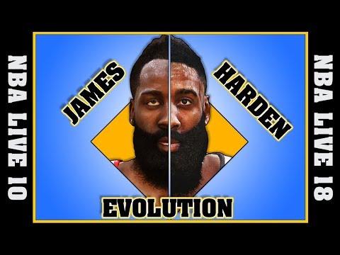JAMES HARDEN evolution [NBA LIVE 10 - NBA LIVE 18]