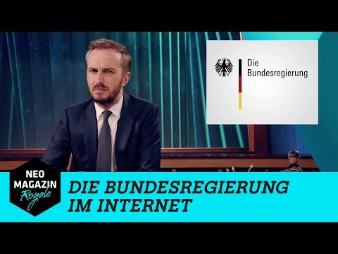 Die Bundesregierung im Internet    NEO MAGAZIN ROYALE mit Jan Böhmermann - ZDFneo