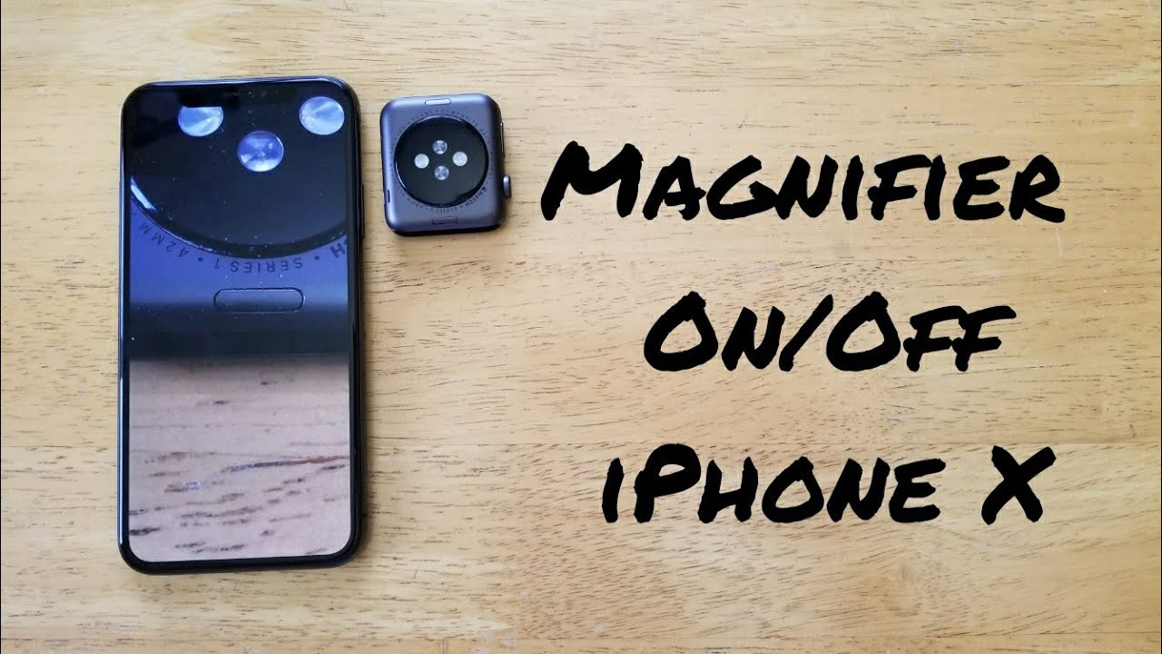 check out 5f557 f386d How to set up magnifier iPhone X
