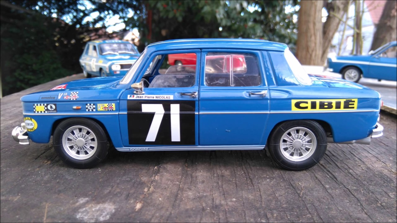renault 8 gordini rallye 1 18 solido youtube. Black Bedroom Furniture Sets. Home Design Ideas
