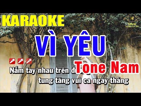 Karaoke Vì Yêu Tone Nam Nhạc Sống   Trọng Hiếu