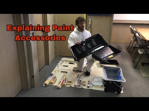 Explaining Paint Pans and Pan Liners, Roller Frames, Roller Covers and Extension Poles