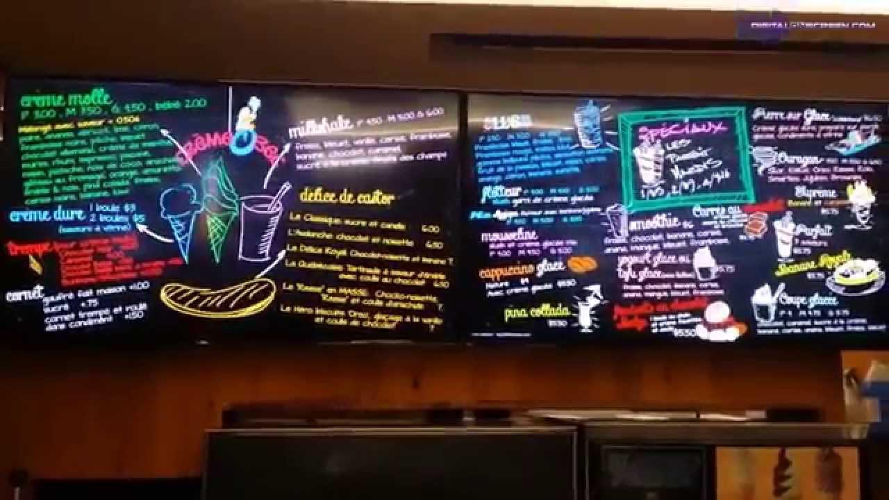 digitalONscreen digital signage Montreal, Digital Menu Board - YouTube