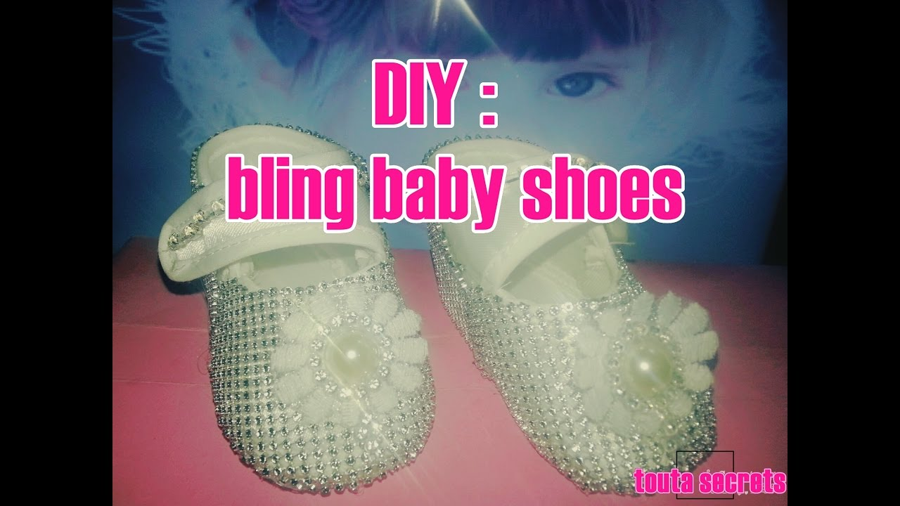 how to bling baby shoses diy - YouTube 3aca03cbc