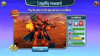 Loyalty Reward Lord Moltus Level 70 on Monster Legends thumbnail