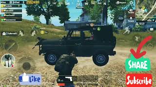 Part -1 PUBG Mobile Game Playing In Smartphone | Drive Enemies Vehicle And Nice team Members.