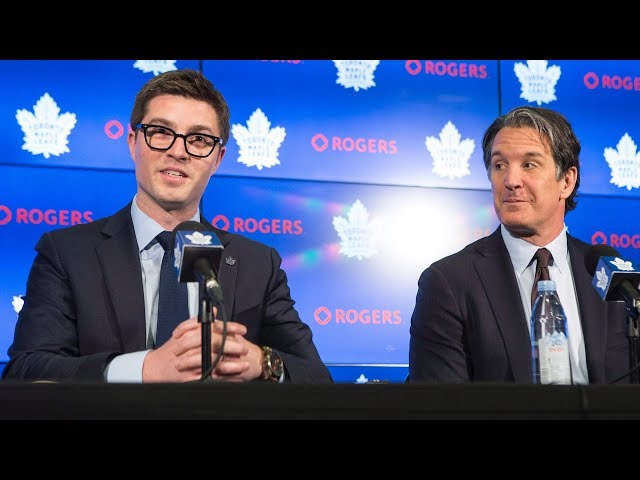 """The Toronto Maple Leafs named 32-year-old Kyle Dubas as their new general manager on Friday. Leafs president Brendan Shanahan says Dubas showed great """"respect"""" for the franchise in his four years as assistant general manager. (The Canadian Press)"""