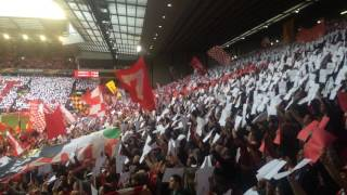 "Anfield Sings Amazing Version Of Liverpool FC's ""You'll Never Walk Alone"" vs Villarreal (May 2016)"