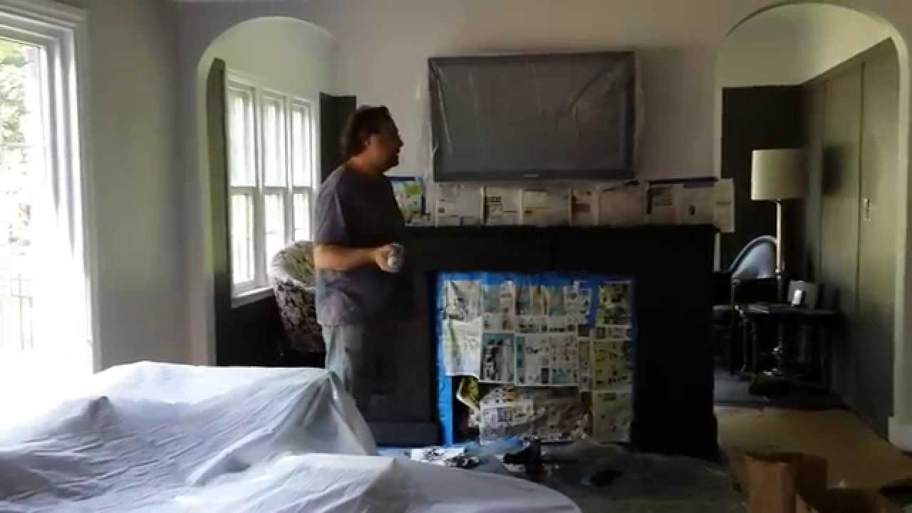 refinishing a fire place mantel in expresso timeless arts