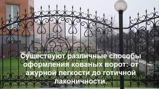 видео кованый забор