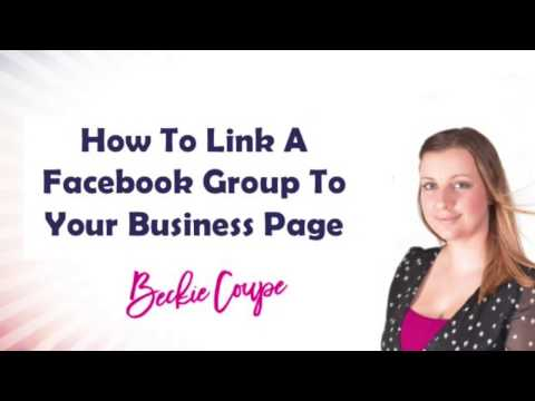 How do you link a facebook page to a group