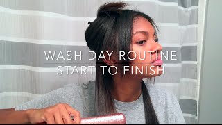 Wash Day Routine For Relaxed Hair