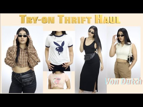 TryOn Thrift Haul  Playboy, Von Dutch, Kim K Basics