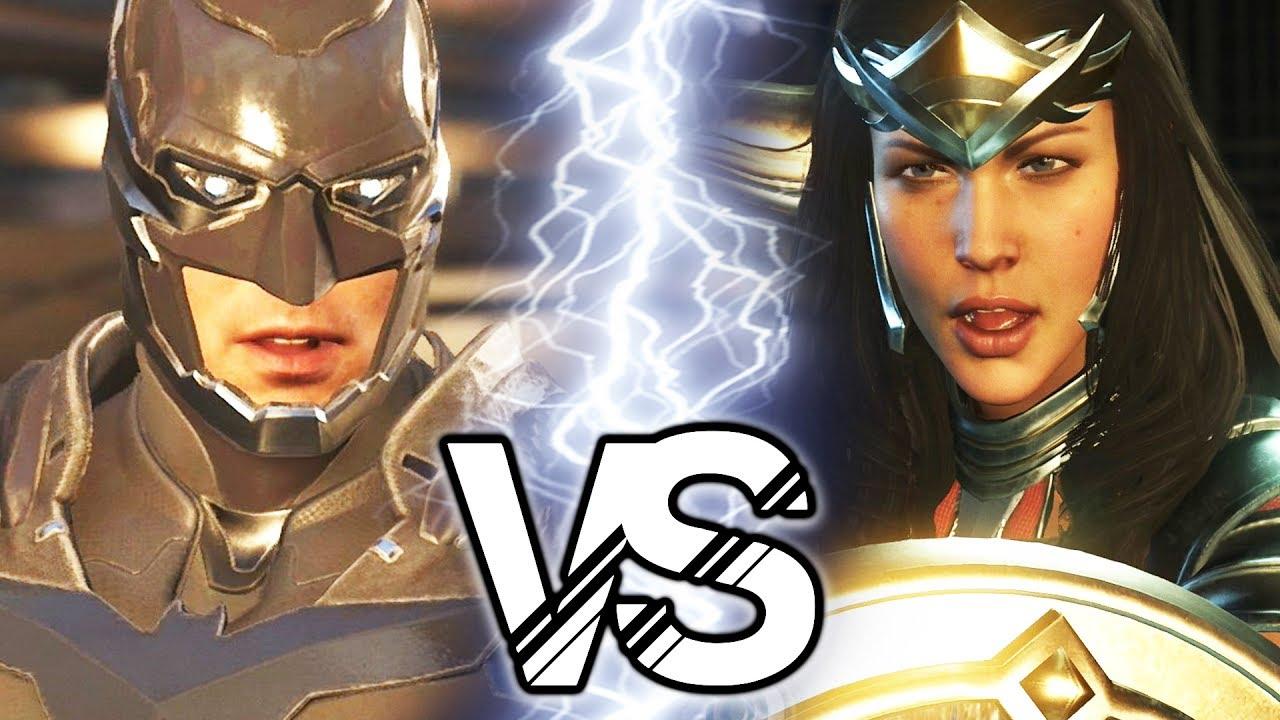 Injustice 2 - Batman VS Wonder Woman Battle - YouTube