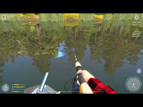 (Eng) Russian fishing 4  English-Lure fishing from a boat - TopWater with wobbler lures - Kuori Lak