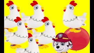 YouTube Kids Paw Patrol Marshall Hiding from Chickaletta Funny Toy Video