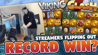 RECORD WIN!!! SUPER MEGA BIG WIN Viking Clash - (MUST SEE) Huge Win from CASINO LIVE STREAM