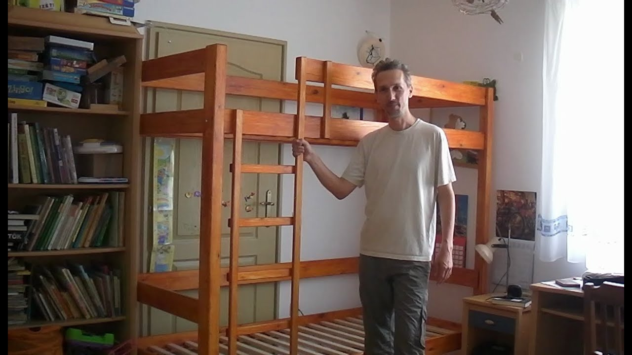 Diy Full Size Bunk Bed Youtube