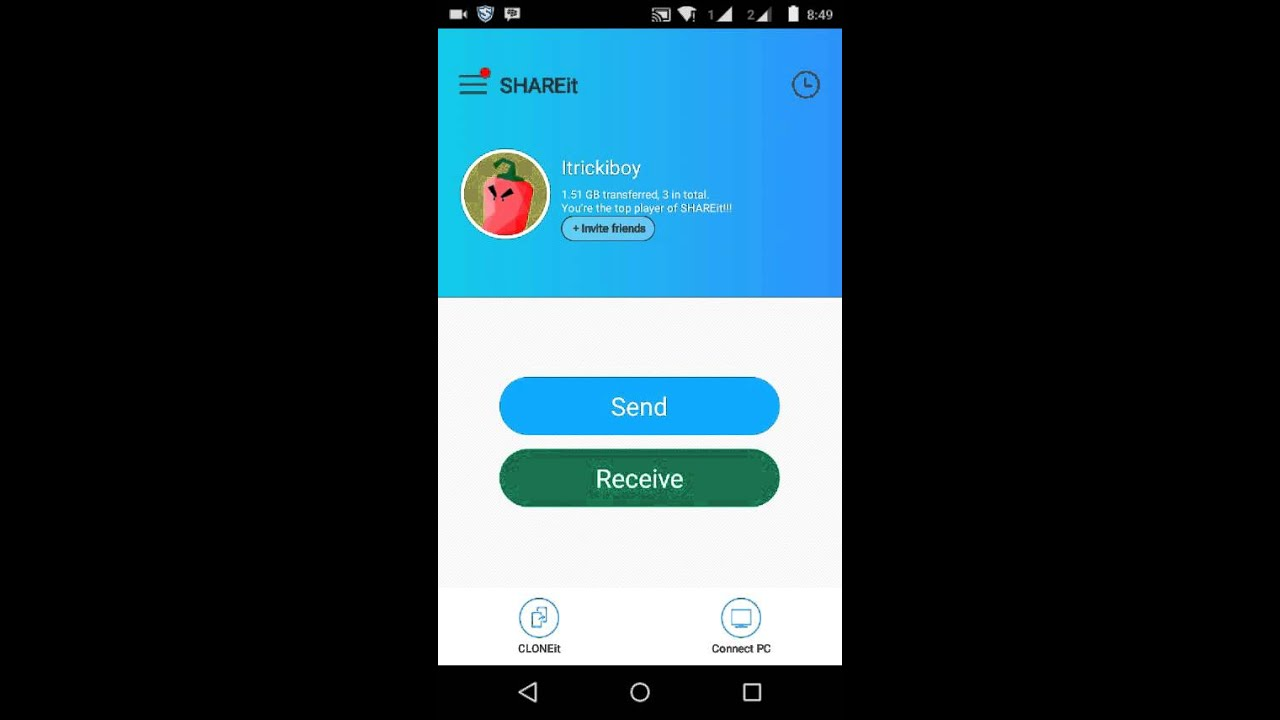 SHAREIT APP: HOW TO CHANGE STORAGE TO SD CARD