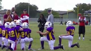 HUGE HIT IN PEEWEE FOOTBALL -Biggest Hits! KNOCKED OUT