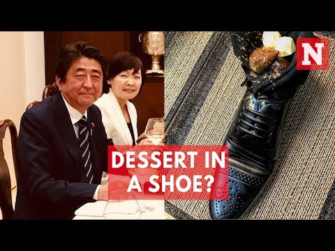 Israel's Shoe Dessert For Japan PM Shinzo Abe Causes Outrage