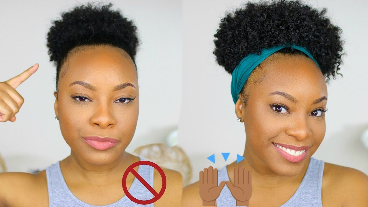 How To Huge Puff Tutorial On Short Natural Hair No Extensions Needed Youtube