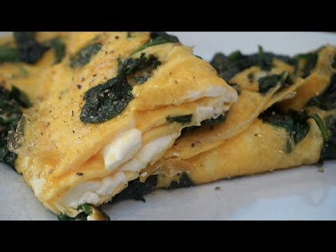 Low Carb/Keto Spinach & Feta Omelette | 2g Carbs