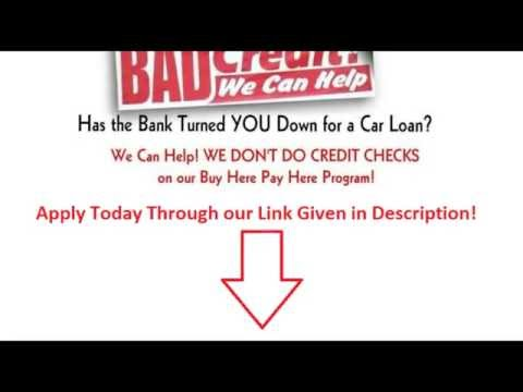 Car Dealerships No Credit Check No Down Payment Near Me