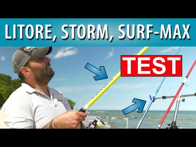 Pierwsza wędka do łowienia z plaży (test wędek Mikado)