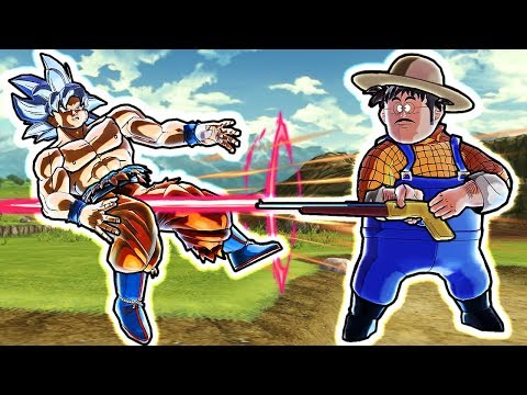 How STRONG Is Farmer With Shotgun In Dragon Ball Xenoverse 2?