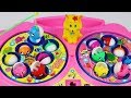 Fishing game for kids with Minnie Mouse and Mickey Mouse learn colours number esl