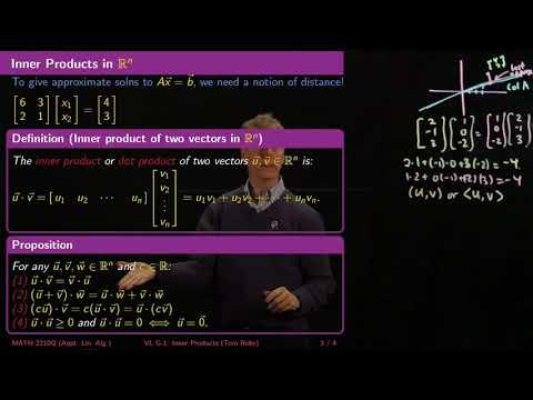 Inner Products and Distance - Linear Algebra - G1