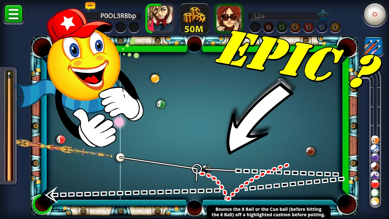8 Ball Pool - MINDBLOWING SHOT [ SPIN TUTORIAL ] LEARN HOW | USE SPINS LIKE  A PRO