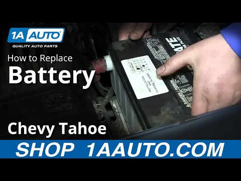 How To Remove Install Replace Battery 1995-99 Chevy Tahoe GMC Yukon