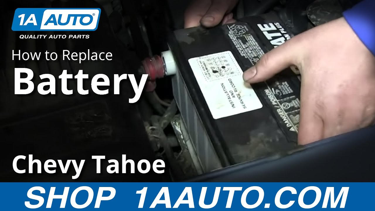 Chevy Blazer Wiring Diagram How To Remove Install Replace Battery 1995 99 Chevy Tahoe