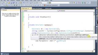 RDLC Report with parameters (C# Code)