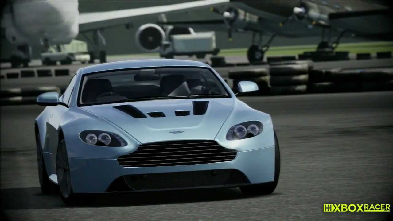 top gear power lap - aston martin v12 vantage - youtube