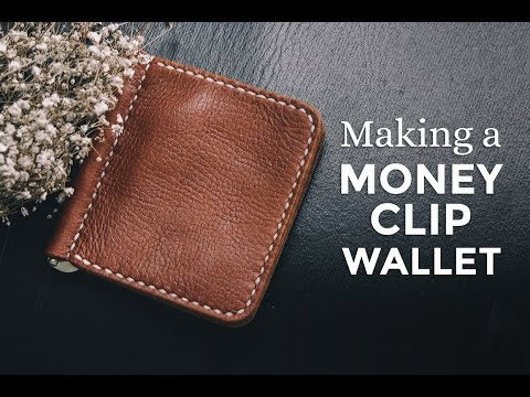 Making a Leather Money Clip Wallet ⧼Week 11/52⧽ thumbnail