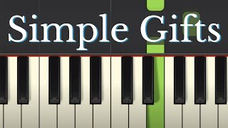 Easy Piano Tutorial: Simple Gifts, Shaker Hymn with free sheet music
