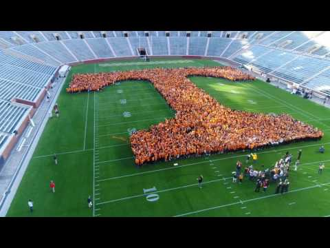 University of Tennessee – World Record/Thank You with Drone.