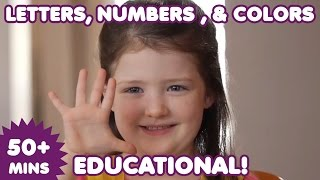 Sign Language Letters, Numbers, and Colors | Nursery Rhymes