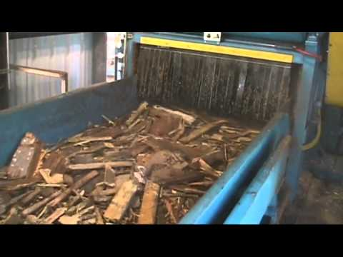 WSM Horizontal Grinder processing Urban Wood Waste